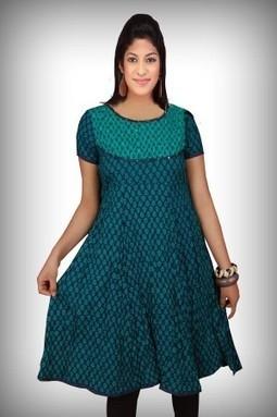 Designer Blue Printed Cotton Kurti-M-169B | KURTIS | Scoop.it