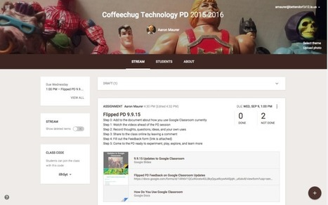 Flipped PD: Using Google Classroom to Make It Happen! | Coffee For The Brain | Education Game Changers | Scoop.it