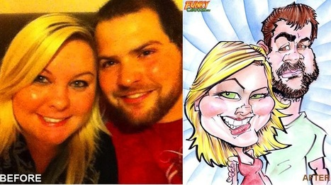 Our latest caricature Anniversary Gift Couple Caricature | Custom Caricatures | Scoop.it