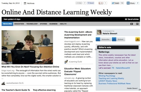 Sept 4 - Online And Distance Learning Weekly | Studying Teaching and Learning | Scoop.it