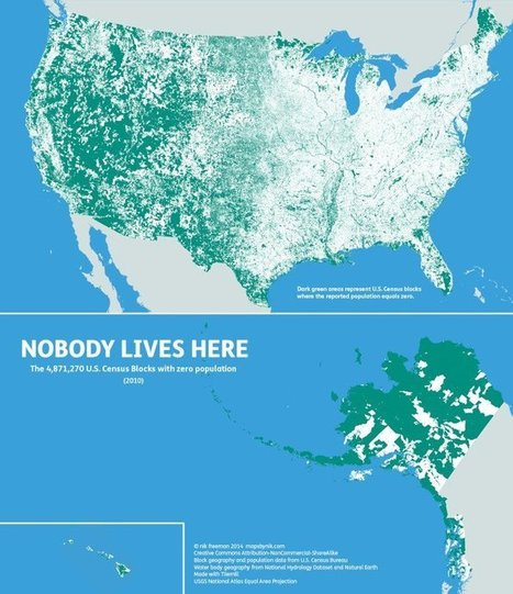 Map of Where Nobody Lives in the United States - Geolounge | The Geo Feed | Scoop.it