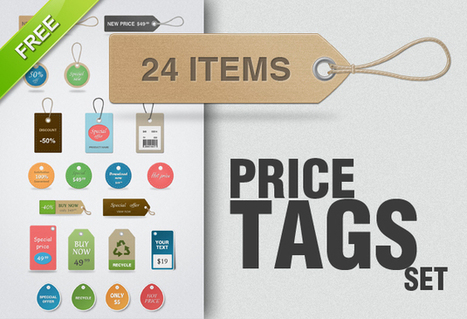 Free Price Tags PSD | Design Inspiration | Scoop.it