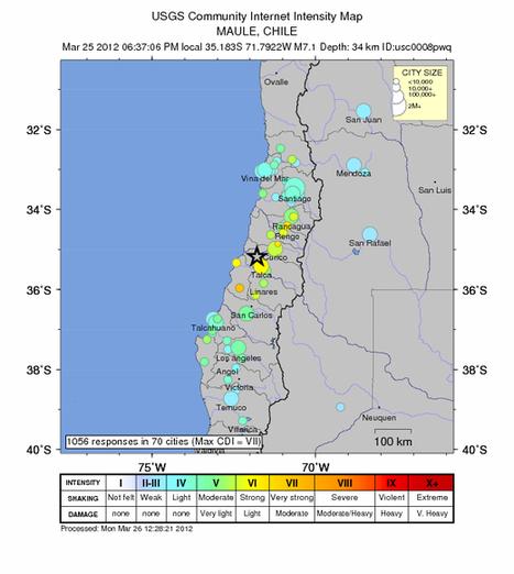 Séisme de magnitude 7.1 – Maule, Chili au sud de Santiago. | Risques et Catastrophes naturelles dans le monde | Scoop.it