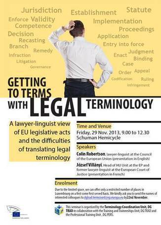 Getting to terms with legal terminology: Seminar on legal terminology not to be missed | terminology and translation | Scoop.it