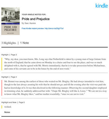Kindles Can Now Send Notes and Highlights Directly to Your Email | Pobre Gutenberg | Scoop.it