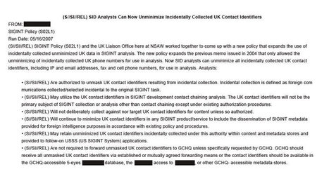 US and UK struck secret deal to allow NSA to 'unmask' Britons' personal data - The Guardian | Peer2Politics | Scoop.it