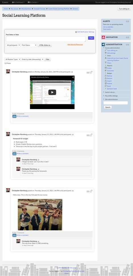 Moodle plugins: Socialwall Format | E-Learning | Scoop.it