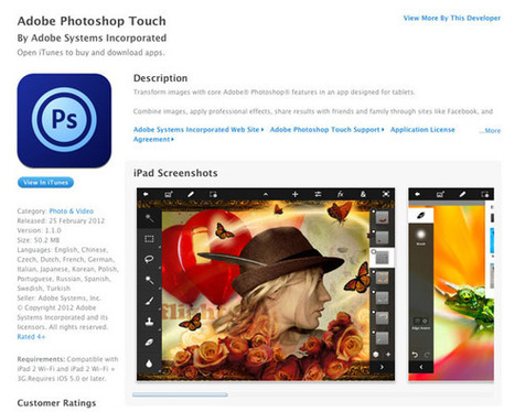 Adobe Photoshop Touch for iPad 2 Accidentally Launched, Officially ... | Mobile Devices in the Library | Scoop.it
