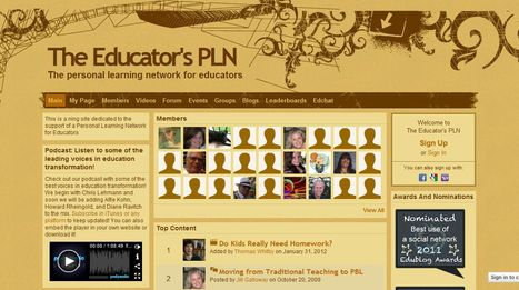 The Educator's PLN - The personal learning network for educators | Time to Learn | Scoop.it