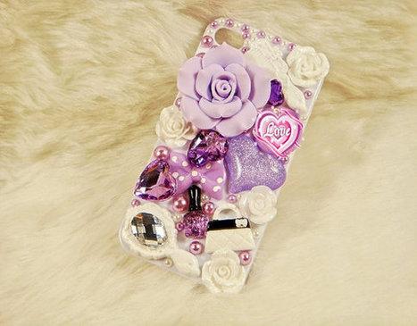 iphone 4 case-iphone 4s case-iphone 5 case black or white vintage flower | bling iphone case | Scoop.it