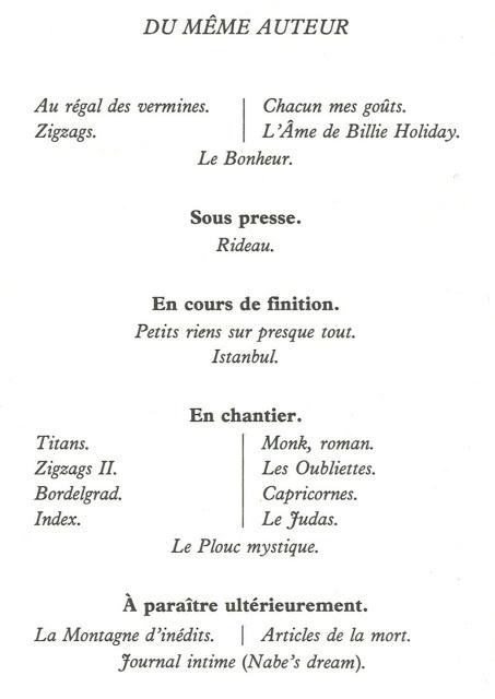 l'éditeur singulier: livres fantômes - Marc-Édouard Nabe | Marc-Edouard Nabe | Scoop.it