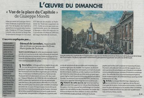 L'oeuvre du dimanche : « Vue de la place du Capitole » de Giuseppe Moretti | Archives municipales de Toulouse | Scoop.it
