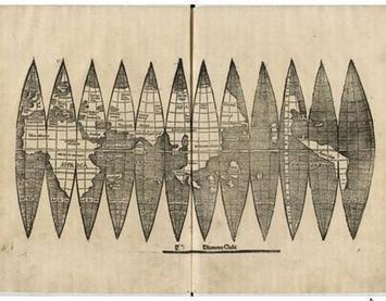 Encontrada versão desconhecida do 'mapa mundi' que batizou aAmérica - Blog - AMS Kepler | geoinformação | Scoop.it