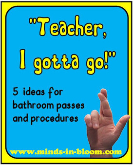 5 Ideas for Bathroom Passes and Procedures | Minds in Bloom | EDCI397 Classroom Climate Plan | Scoop.it