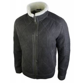 Mens Vintage Brown Real Leather Sheepskin Jacket Zipped Short Smart Casual | Mens clothing | Scoop.it