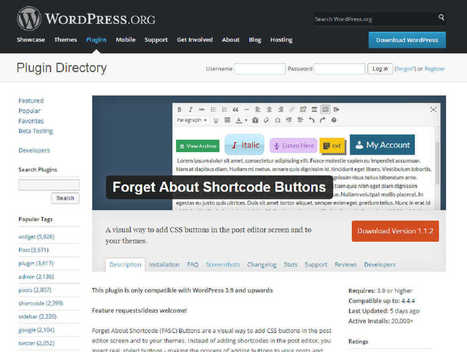 Plugin Wordpress: Forget About Shortcode Buttons | Cursos Online | Scoop.it
