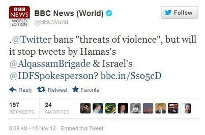 Live Blogging Israel's Media War 11/18/2012 | HonestReporting | Jewish Education Around the World | Scoop.it