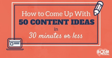 How To Come Up With 50 Content Ideas in 30 Minutes or Less | My Blog 2016 | Scoop.it