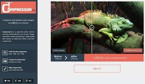 Compressor.io, reducir el peso de una imagen sin pérdida de calidad y de forma online | Herramientas digitales | Scoop.it