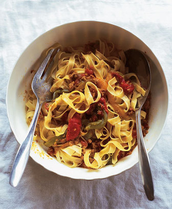 Veal Pasta Sauce with Red, Green, and Yellow Peppers   SAVEUR   My Culinary Passions   Scoop.it