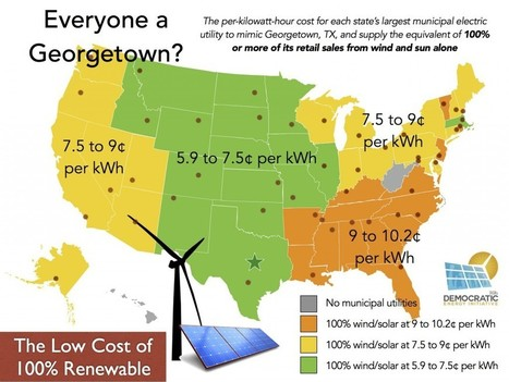 Can Other Cities Match Georgetown's Low-Cost Switch to 100 Percent Wind and Sun? | Sustainable Futures | Scoop.it