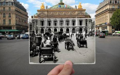 Bluffant : un photographe incruste des photos d'archives dans le Paris d'aujourd'hui et brouille l'espace-temps | Infocom | Scoop.it