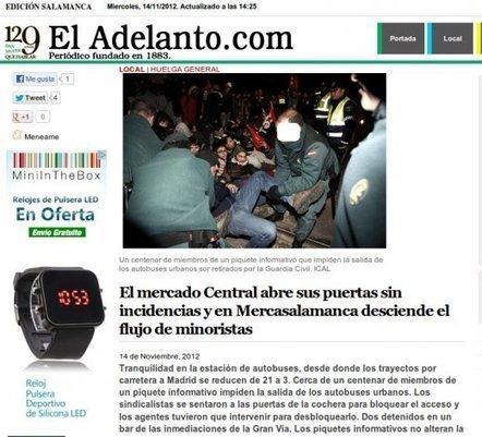 El Mundo manipula la información sobre la huelga en Valladolid | Periodismo Digital e avanzado | Scoop.it