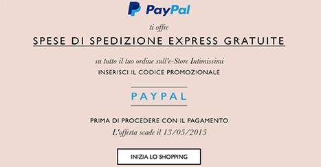 Spedizione gratuita se paghi con Paypal da Intimissimi | Offerte partner CodiceRisparmio.it | Scoop.it