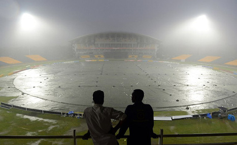 Photo: Heavy rain lashes down on the stadium in Hambantota | Best of Island Cricket | Scoop.it