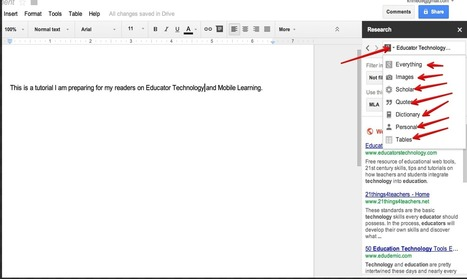 9 Things Every Student Should Be Able to Do with Google Drive ~ Educational Technology and Mobile Learning | Linking Literacy & Learning: Research, Reflection, and Practice | Scoop.it