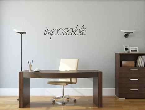 Sticker de Bureau - Impossible. Paris - Graphicarts | Lettrage adhésif et impression numérique | Scoop.it
