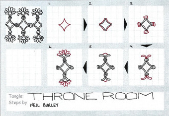 Throne Room - tangle pattern | Artistic Line Designs-all free | Scoop.it