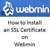 How to Install an SSL Certificate on Webmin | Comodo SSL | Scoop.it
