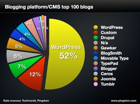 WordPress Dominates Top 100 Blogs | Great Writing Meets Social Media | Scoop.it
