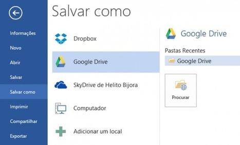 Como integrar Google Drive y Dropbox en Office 2013 | Tips&Tricks | Scoop.it