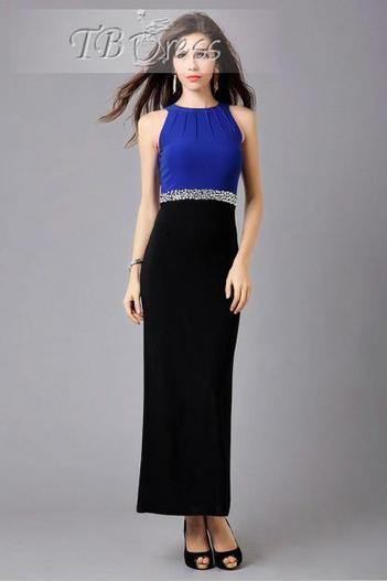 Gorgeous Patchwork Round Neck Sleeveless Maxi Dress | beauty girl | Scoop.it