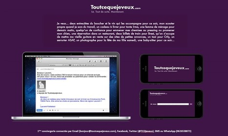 Toutcequejeveux.com, la marketplace de la conciergerie | Digital Actu : Marketing, Business, Social Media | Scoop.it