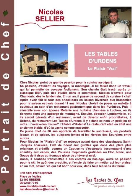 Portrait de Nicolas Sellier, chef du restaurant Les Tables d'Urdens | Les Tables du Gers | Scoop.it