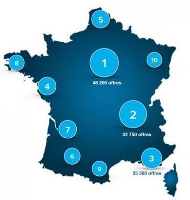 3 régions concentrent 40% des offres d'emploi | Marché de l'emploi | Scoop.it
