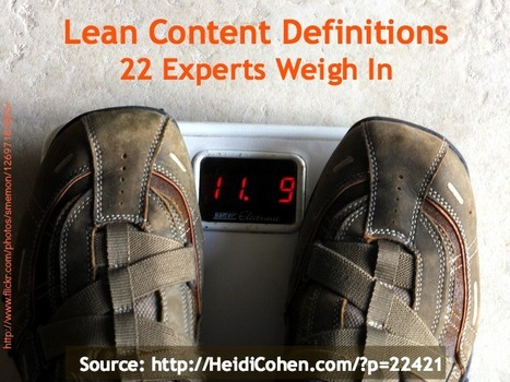 What is Lean Content? And why we need it - 22 experts weigh in. | Online Learning | Scoop.it