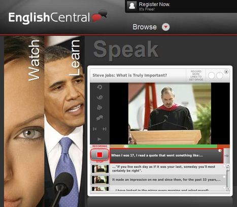 Watch. Learn. Speak. | EnglishCentral World Report | Scoop.it