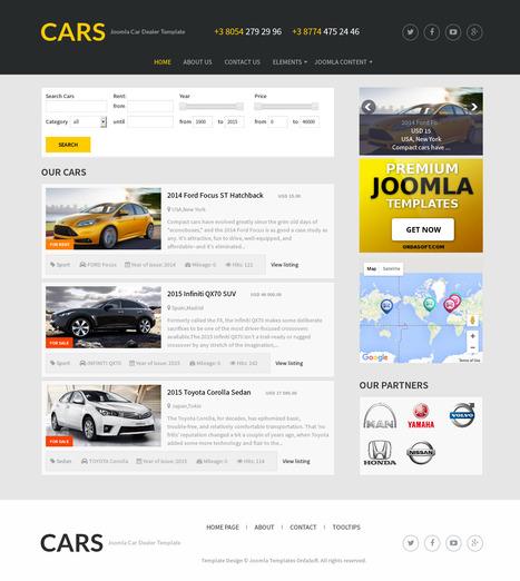 Free Car Template Cars - OrdaSoft | FREE JOOMLA TEMPLATES | Scoop.it