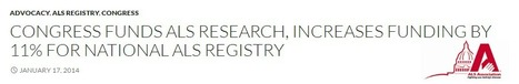 Congress Funds ALS Research, Increases Funding by 11% For National ALS Registry | #ALS AWARENESS #LouGehrigsDisease #PARKINSONS | Scoop.it