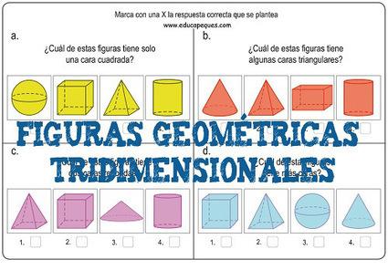Formas y figuras geométricas tridimensionales primaria | Educapeques Networks. Portal de educación | Scoop.it
