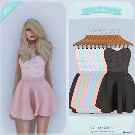 Drucella Dress 8 Colors Group Gift by AUSHKA&CO | Teleport Hub - Second Life Freebies | Second Life Freebies | Scoop.it