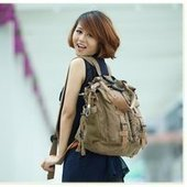 girls multi canvas backpack | shoulder bags | personalized canvas messenger bags and backpack | Scoop.it