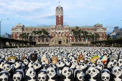 1600 Papier Mache Pandas Travel the World, Spreading a Message of Conservation #art #pandas #publicart | Luby Art | Scoop.it