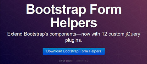 Bootstrap Form Helpers | Formulaires HTML5, CSS3 & jQuery | Scoop.it