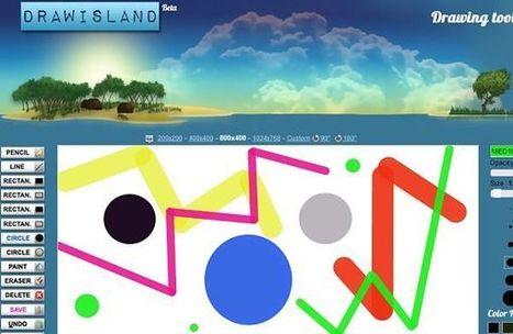 Drawisland, una pizarra digital para hacer garabatos y crear sencillas animaciones   Las TIC y la Educación   Scoop.it