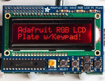 Adafruit RGB Negative 16x2 LCD+Keypad Kit for Raspberry Pi ID: 1110 - $24.95 : Adafruit Industries, Unique & fun DIY electronics and kits   Linux y Arduino   Scoop.it